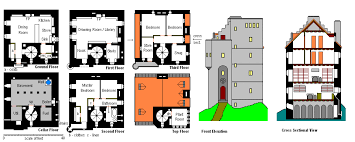 castle house plans towers 2578 tinyouse plans lookout tower free printable images throughout fire observation