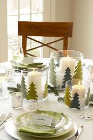 Image Table Felt Pine Tree Christmas Centerpiece Good Housekeeping 40 Diy Christmas Table Decorations And Settings Centerpieces