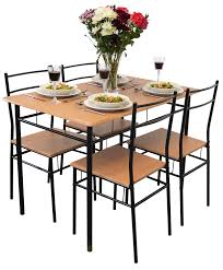 harbour housewares 5 piece kitchen dining table chairs set black co uk kitchen home