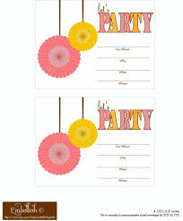 Print Out Birthday Invitations FREE Pink and Yellow Party Printables From Embellish Catch My Party 22