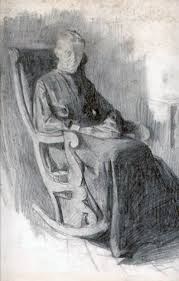 Image result for drawing old lady on a chair