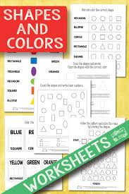 Shapes and Colors Worksheets - Itsy Bitsy Fun