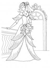 Small Picture Princess Dress Coloring Pages Princess In Her Wedding Dress