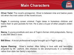victorian literature main characters oliver twist