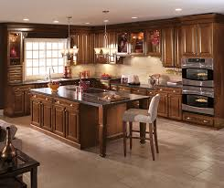 dark oak kitchen cabinets. Cherry Wood Kitchen Cabinets In A Dark Saddle Finish Oak