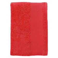 <b>Полотенце махровое Island</b> Small, красное с логотипом - купить в ...