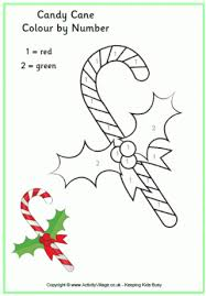 Small Picture Candy Cane Colouring Pages