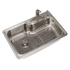 Glacier Bay All In One Drop In Stainless Steel 33 In 4 Hole Single