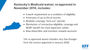 Re Approval Of Kentucky Medicaid Demonstration Waiver The