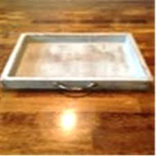 wood tray distressed green