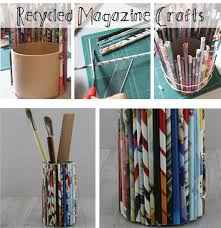Magazine Holder Craft Enchanting How To Make A Recycled Magazine Pencil Holder The Craft Corner