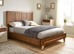 grant dark wood and copper bed frame  dreams