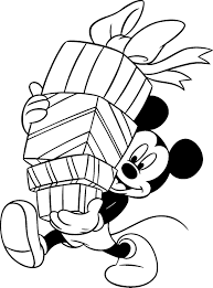 If you'd love to celebrate the holidays disney style, go ahead and print out your favorites for free. Disney Christmas Coloring Pages Mickey Mouse Holding Gifts Free Disney Coloring Pages Cartoon Coloring Pages Mickey Mouse Coloring Pages