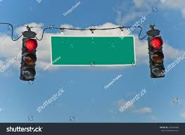 Blank Stop Light Red Stop Lights Blank Traffic Sign Stock Photo Edit Now
