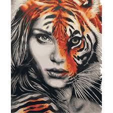 au zebra paint by number kit diy acrylic