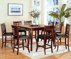 counter height round table with lazy susan counter height dining table with lazy susan walnut finish