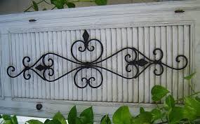 outdoor wrought iron wall decor