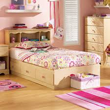 Kids Bed With Bookshelf Funiture Kids Girl Room Furniture Ideas Using Natural Wooden Bed
