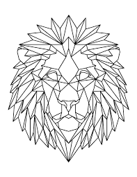 Coloring pages are learning activity for kids, this website have coloring pictures for print and color. Printable Geometric Lion Head Coloring Page