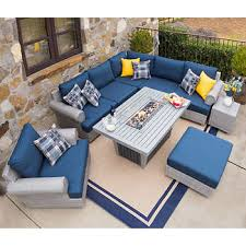 Summer outdoor furniture Cheap Regency 9piece Seating Set With Fire Table By Sirio Improvements Catalog Patio Outdoor Furniture Costco