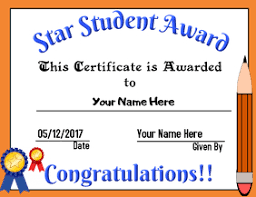 Star Student Certificates Student Award Certificate Template Magdalene Project Org