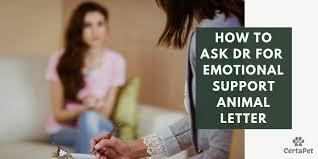 How To Ask Doctor For Emotional Support Animal Letter Certapet
