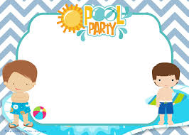 Invitations in indesign can be of wonderful use in assisting you to design the very best invitation required for your event. Free Pool Party Invitation For Boys Download Hundreds Free Printable Birthday Invitation Templates