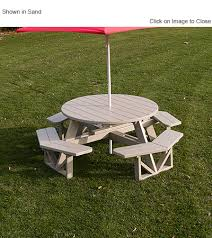 polywood park commercial grade octagon picnic table