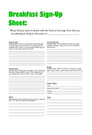 Party Sign Up Sheet Template 38 Best Potluck Sign Up Sheets For Any Occasion