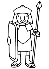 Roman Soldier Coloring Page A Cartoon Drawing Of Roman Soldier From