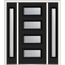 modern black front doors. Wonderful Front 60 In X 80 Celeste LeftHand Inswing 4Lite Frosted To Modern Black Front Doors L