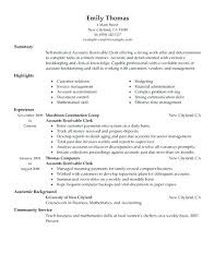 Sample Resume Assistant Manager Finance Accounts Assistant Finance