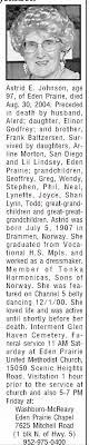 Obituary for Astrid E. Johnson, 1907-2004 (Aged 97) - Newspapers.com