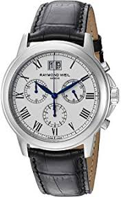 amazon com raymond weil men s 4476 stc 00300 tradition raymond weil men s 4476 stc 00300 analog display quartz black watch