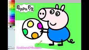 Peppa Pig Paint And Colour Games Peppa Pig Painting Games