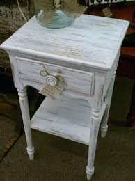 distressed white side table distressed white octagon drum side table off white distressed side table