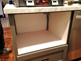 how to fake a built in microwave