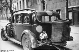 Image result for a picture of a gas car in world war 2