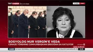 TRT Haber - Sosyolog Prof. Dr. Nur Vergin için cenaze töreni düzenleniyor.