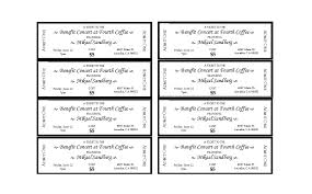Benefit Ticket Template 22 Free Event Ticket Templates Ms Word Template Lab
