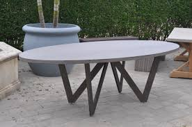 Teak Oval Dining Table Bumble Outdoor Oval Dining Table Mecox Gardens