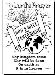 Small Picture 29 best Free printable Lords Prayer coloring pages images on