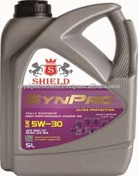 shield synpro sae 5w30 sm cf acea a3 b4 fully synthetic engine