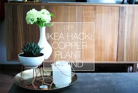 Diy Ikea Hack Copper Plant Stand Makemess