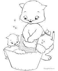 Small Picture Free Coloring Pages Of Cats And Kittens Dzrleathercom
