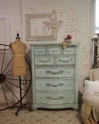 painted cottage shabby aqua chic romance dresser ch246 bedroom furniture shabby chic