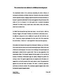 the nature nurture debate in childhood development gcse health page 1