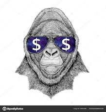 обезьяна в очках горилла обезьяна обезьяна страшное животное в