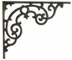 wall shelf bracket ornate pattern