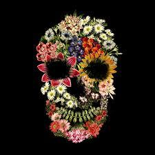 <b>Floral Skull Vintage</b> Black Tshirt - Tobe Fonseca